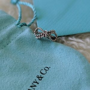 Tiffany & Co. Sterling Silver Bow Twist Ring 4.5